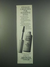 1984 Max Factor For Your Eyes Only Mascara Ad - $14.99