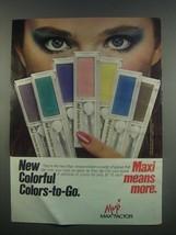 1984 Max Factor Maxi Colors-to-Go Powder Shadows Ad - $14.99