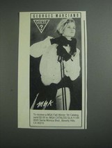 1984 MGA Guess? Fashion Ad - Georges Marciano - $14.99