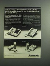 1984 Panasonic Telephone Ad - KX-T 2425 KX-T 2130 - $14.99