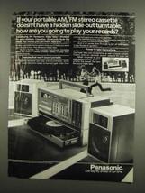 1984 Panasonic Triple Take Stereo System Ad - Turntable - $14.99
