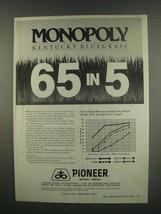 1984 Pioneer Monopoly Kentucky Bluegrass Ad - 65 in 5 - $14.99