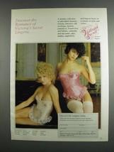 1984 Victoria's Secret Designer Lingerie Ad - Romance - $14.99