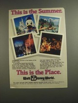 1984 Walt Disney World Ad - This is The Summer - $14.99