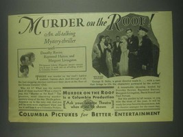 1930 Columbia Murder on the Roof Movie Ad - D. Revier - $14.99