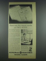 1935 General Electric Mazda Lamps Ad - Report Cards - $14.99