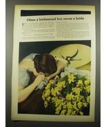 1939 Lambert Listerine Antiseptic Ad - Bridesmaid - $14.99