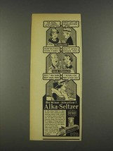 1937 Alka-Seltzer Medicine Ad - Ache Seems to Disappear - $14.99