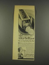 1937 Alka-Seltzer Medicine Ad - Keep Feeling Your Best - $14.99