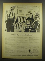 1939 Sanforized Shirts Ad - All Choked Up Over - $14.99