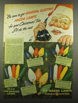 1940 General Electric G-E Mazda Christmas Tree Lamps Ad - $14.99