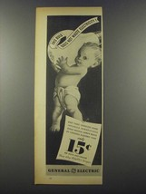 1937 General Electric Mazda Lamps Ad - Does Not Waste - $14.99