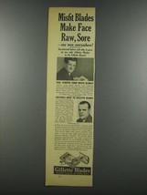 1937 Gillette Blades Ad - Misfit Make Face Raw, Sore - $14.99
