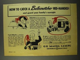 1942 General Electric G-E Mazda Lamps Ad - Bulbsnatcher - $14.99