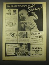 1938 General Electric Mazda Lamps Ad - The Benefit - $14.99