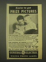1938 General Electric Mazda Photo Lamps Ad - Easier - $14.99