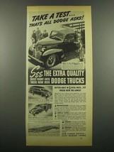 1939 Dodge Trucks Ad - 1 1/2-ton Standard Stake - $14.99