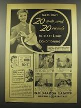 1939 General Electric G-E Mazda Lamps Ad - 20 Seconds - $14.99