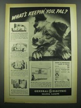1939 General Electric Mazda Lamps Ad - Keepin' You - $14.99