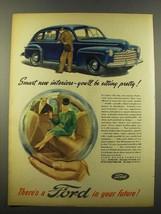 1946 Ford Car Ad - Smart New Interiors - $14.99