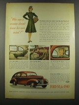 1940 Ford Car Ad - Who Says a Woman Doesn't Know - $14.99