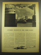 1940 Ford Motor Company Ad - Anchors Away on Ford Fleet - $14.99