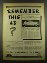 1940 Ford Cars Ad - Remember This Ad? - $14.99