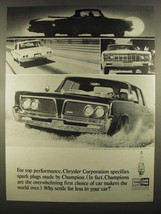 1964 Champion Spark Plugs Ad - For Top Performance - $14.99