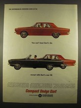 1964 Dodge Dart Ad - You Can't Beat Dart's Six - $14.99