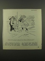 1945 Wheaties Cereal Ad - Cartoon by Dave Gerard - $14.99