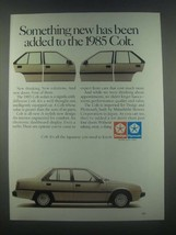 1985 Dodge Plymouth Mitsubishi Colt Sedan Ad - $14.99