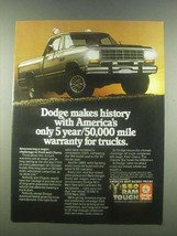 1985 Dodge Pickup Truck Ad - Makes History - $14.99
