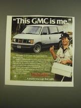 1985 GMC Safari Van Ad - $14.99