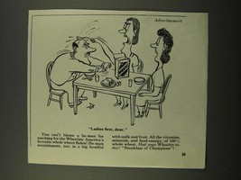 1947 Wheaties Cereal Ad - Cartoon by Virgil Patch - $14.99