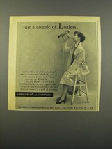 1949 Crompton-Richmond Pinwale Cordurella Ad - Loafers - $14.99