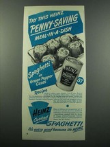 1949 Heinz Cooked Spaghetti Ad - in Green Pepper Cases - $14.99