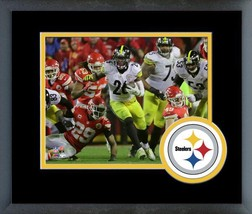 Le'Veon Bell Steelers 2016 AFC Div. Playoff Game -11x14 Mated/ Framed Photo - $43.55