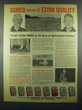 1955 American Agricultural Chemical Agrico Products Ad - Extra Quality - $14.99