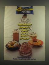 1985 Nestle Little Bits Semi Sweet Chocolate Ad - $14.99