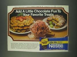 1985 Nestle Little Bits Semi-Sweet Chocolate Ad - Add a Little Chocolate... - $14.99
