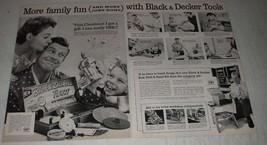 1956 Black & Decker Deluxe FixKit Drill Ad - Family Fun - $14.99