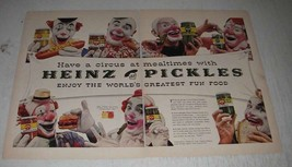 1956 Heinz Pickles Ad - Have a Circus - Clowns - $14.99