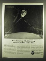 1963 RCA RELAY communications Satellite Ad - $14.99