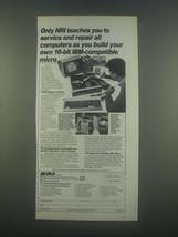 1985 NRI Schools Ad - Microcomputers Course - $14.99