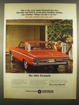 1964 Plymouth Fury 2-Door Hardtop Ad - $14.99