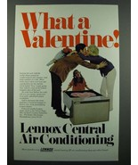 1971 Lennox Central Air Conditioning Ad - Valentine - $14.99