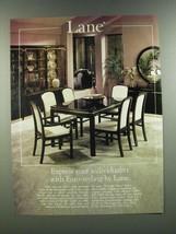 1986 Lane Lido Dining Room Furniture Ad - Euro-Styling - $14.99