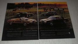 1985 Chrysler LeBarons Ad - Feel the power of a V-8 - $14.99