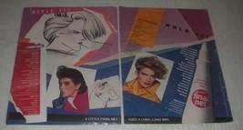 1985 Clairol Final Net Hair Spray Ad - Goes a long, long way - $14.99