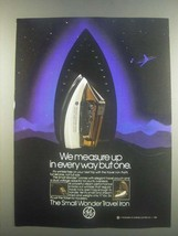 1985 General Electric Small Wonder Travel Iron Ad - $14.99